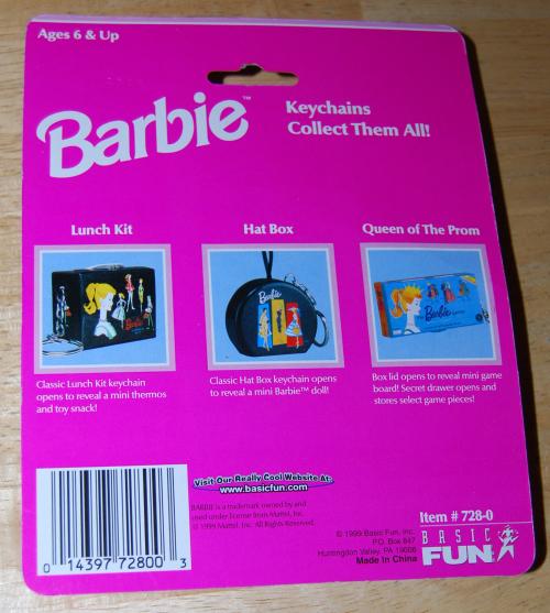 Barbie lunch kit keychain x