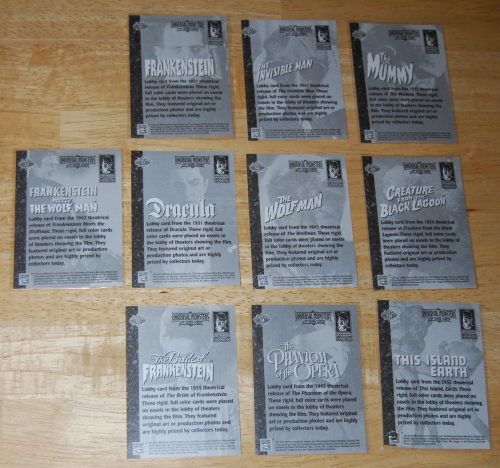 Universal monsters cards 1