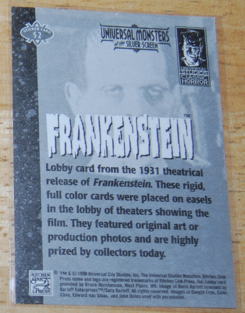Universal monsters cards 7