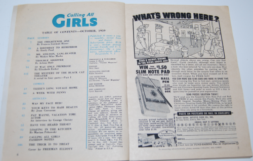 Calling all girls october 1959 2