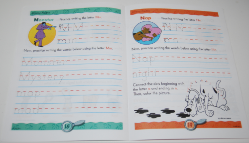 Scooby doo printing practice book 5