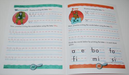 Scooby doo printing practice book 6