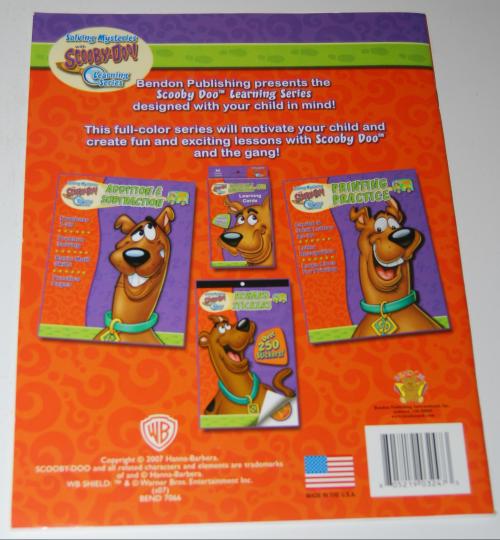 Scooby doo printing practice book x
