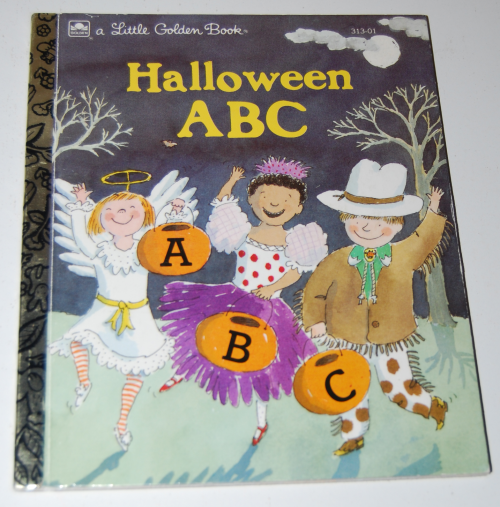 Little golden book halloween abc