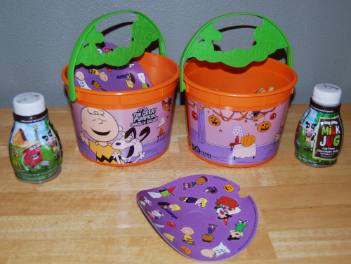 50th anniversary peanuts halloween happy meal buckets
