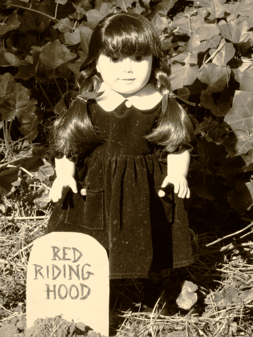 Wednesday addams doll graveyard 4