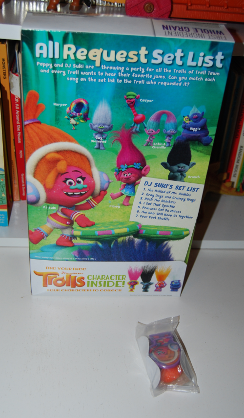 Trolls cereal prize x