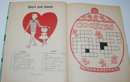 Vintage children's crossword puzzle book 3