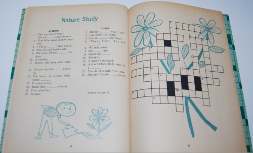 Vintage children's crossword puzzle book 4