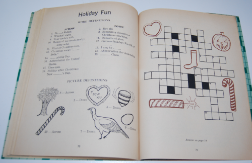 Vintage children's crossword puzzle book 9