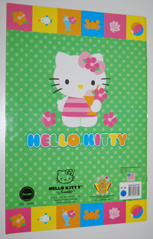 Giant hello kitty coloring book x