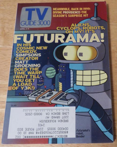 Futurama debut tv guide