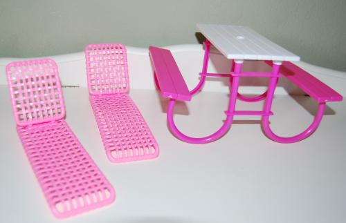 Barbie bbq table set