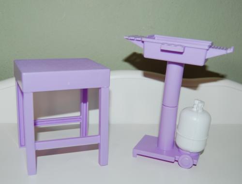 Barbie bbq table set x