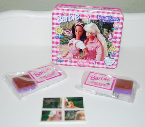 Barbie ink pad tin