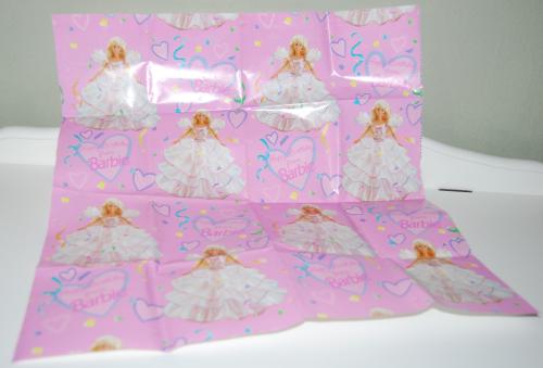 Barbie gift wrap