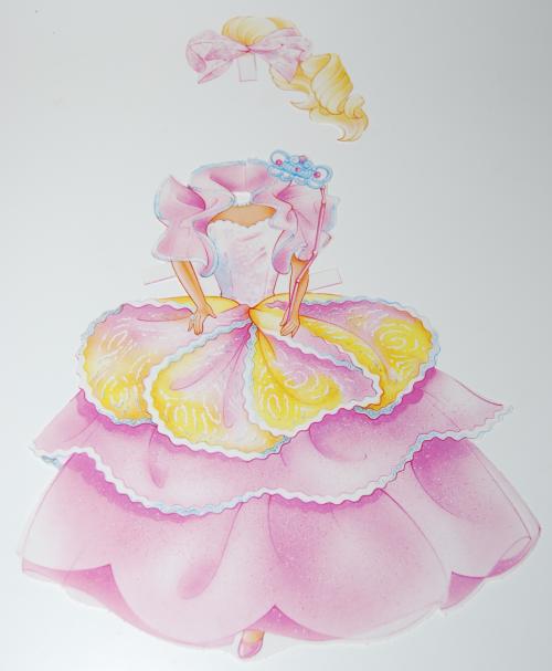 Barbie deluxe paperdoll 1991 4