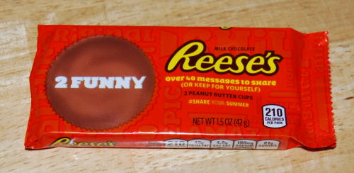 Reese's peanut butter cup messages x