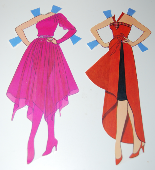 Day to night barbie paperdoll 1985 1