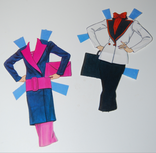 Day to night barbie paperdoll 1985 3