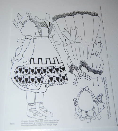 Alice in wonderland paperdoll by peck gandre 9
