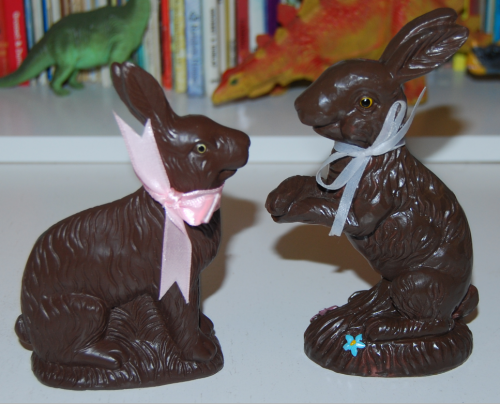 Chocolate easter bunny figures x