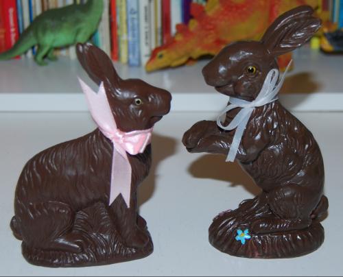 Chocolate easter bunny figures x
