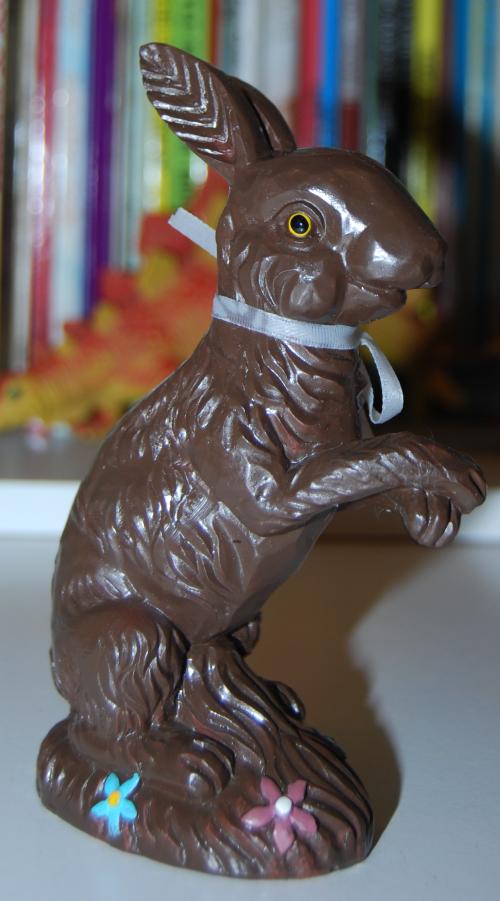 Chocolate easter bunny figures
