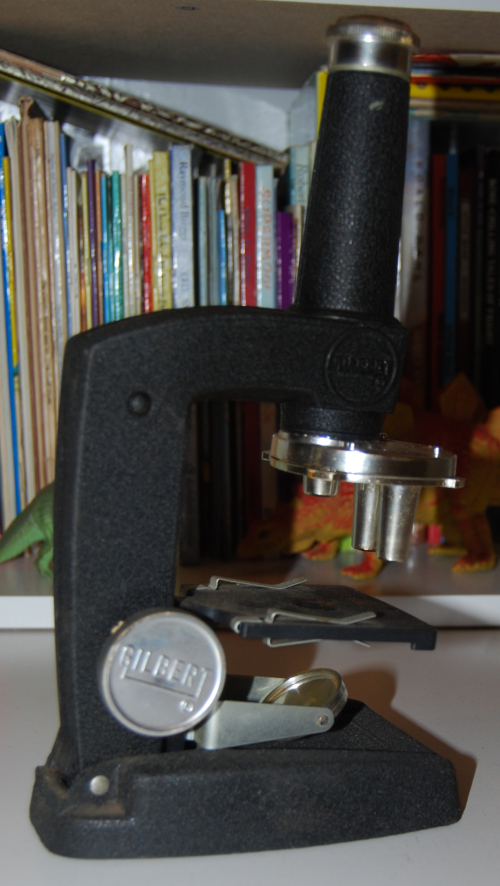 Vintage gilbert microscope 10