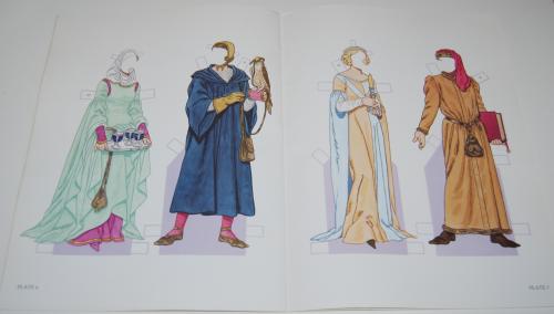 Medieval costumes paperdolls 4