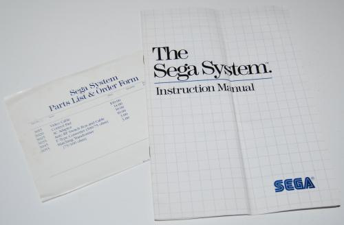 Vintage sega master game system guide