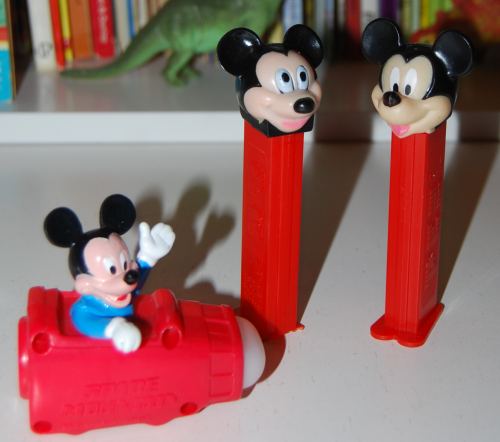 Mickey mouse pez dispensers