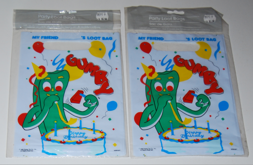 Gumby party loot bags