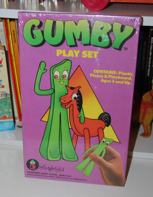 Gumby colorforms playset