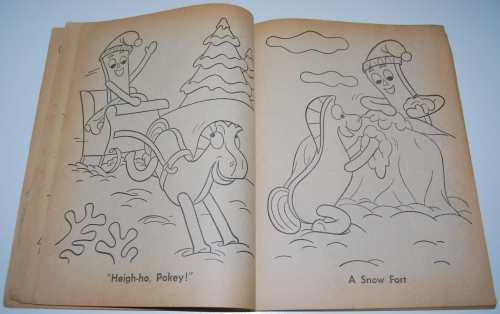 Gumby & pokey coloring book whitman 4