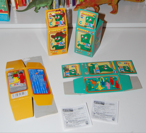 Gumby kubricks cartons