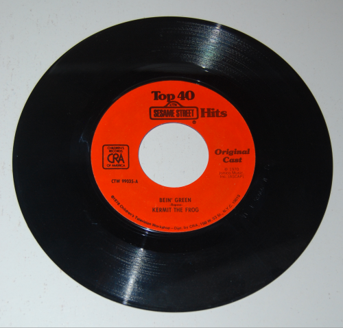 Vintage sesame street vinyl records 3