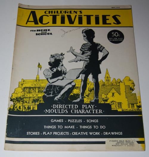 Children's activities magazine may 1948
