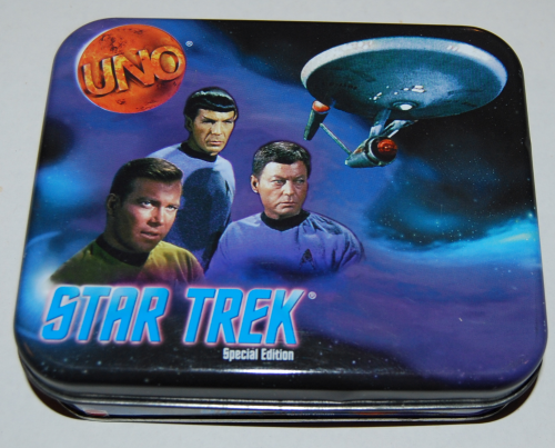 Star trek special edition uno card game tin