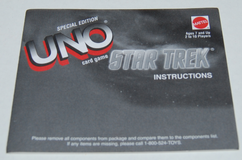 Star trek special edition uno card game tin 2