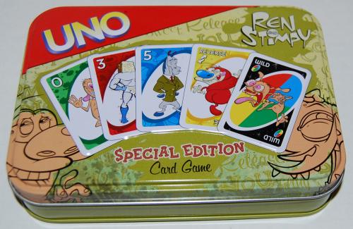 Ren & stimpy special edition uno card game tin