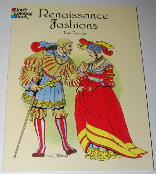 Dover renaisance fashion coloring book