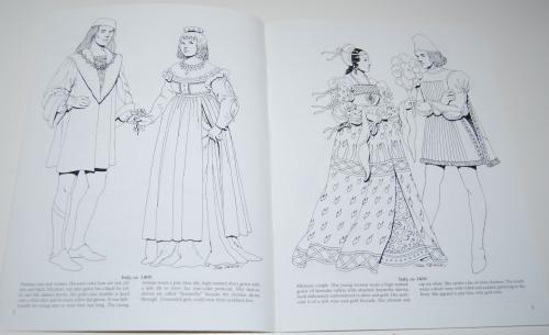 Dover renaisance fashion coloring book 2