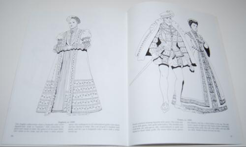 Dover renaisance fashion coloring book 8