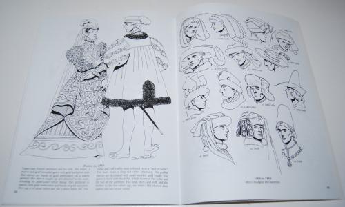Dover renaisance fashion coloring book 9