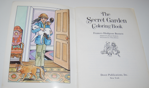 Dover secret garden coloring book 1