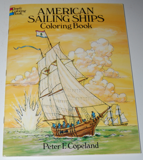 Dover american sailing ships coloring book