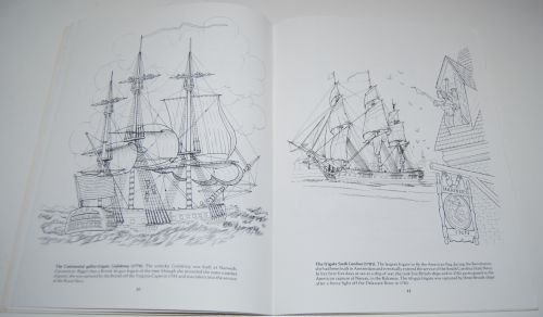 Dover american sailing ships coloring book 5