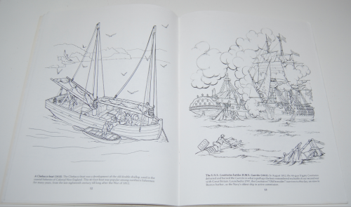 Dover american sailing ships coloring book 6
