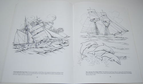 Dover american sailing ships coloring book 7